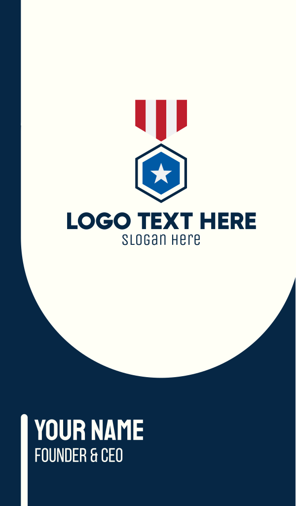 Stars And Stripes Medal Business Card