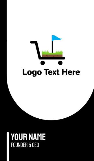 Golf Cart Flag Business Card