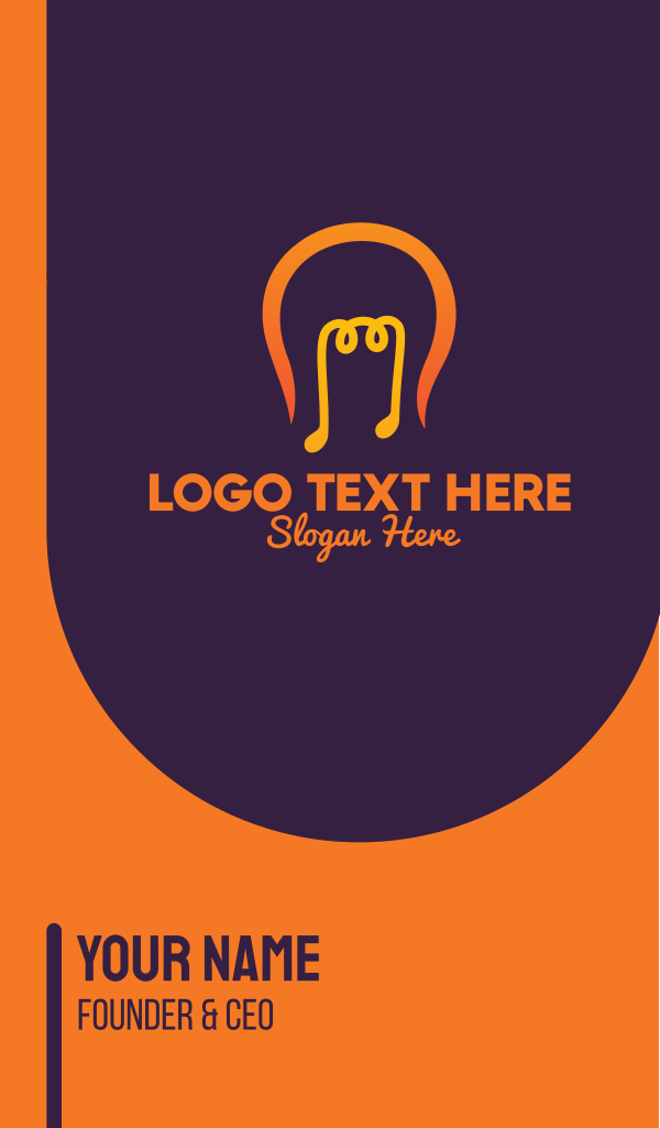 Music Light Bulb Business Card
