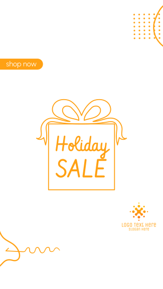 Holiday Sale Facebook story