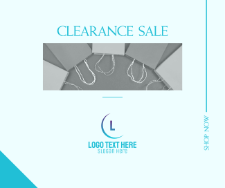 Clearance Sale Facebook post