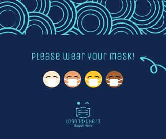 Mask Emoji Facebook post