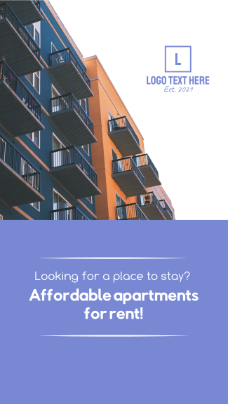 Apartment for Rent Facebook story