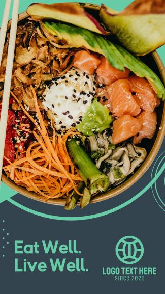 Healthy Food Sushi Bowl Facebook story