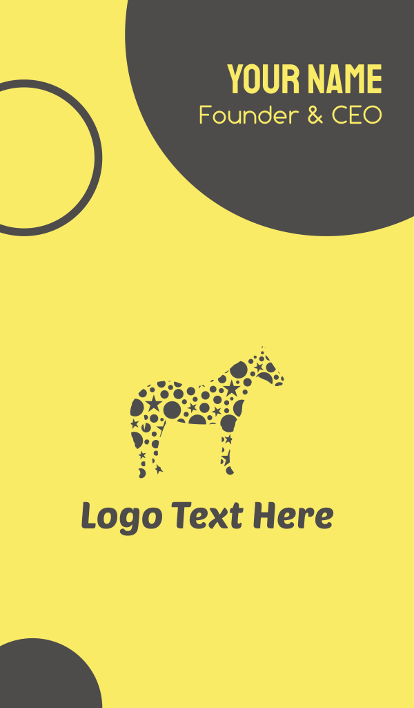 Yellow Star Horse Business Card