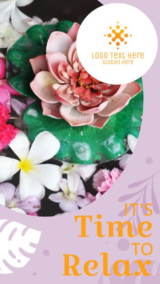 Relaxation Lotus Flower Facebook story
