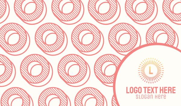 circles - Circles Pattern Business card horizontal design