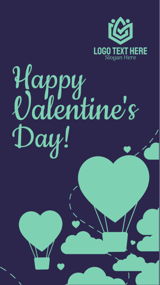 Valentines Heart Facebook story