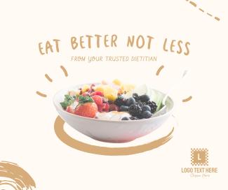 Eat Better Not Less Facebook post