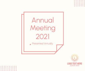 Annual Meeting 2021 Facebook post