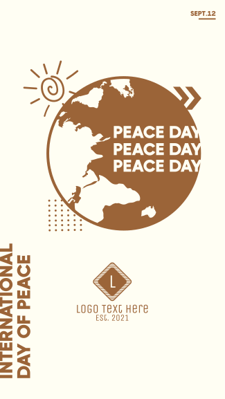 International Day Of Peace Facebook story