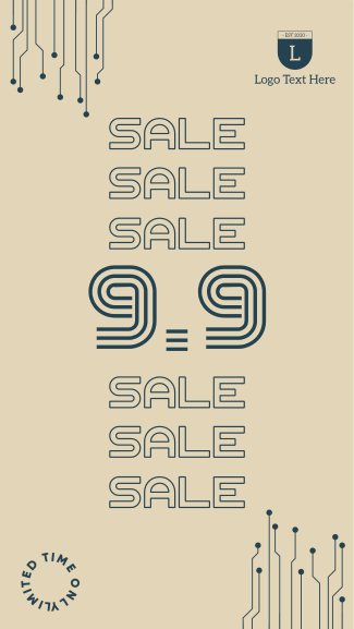 9.9 Special Sale Badge Facebook story
