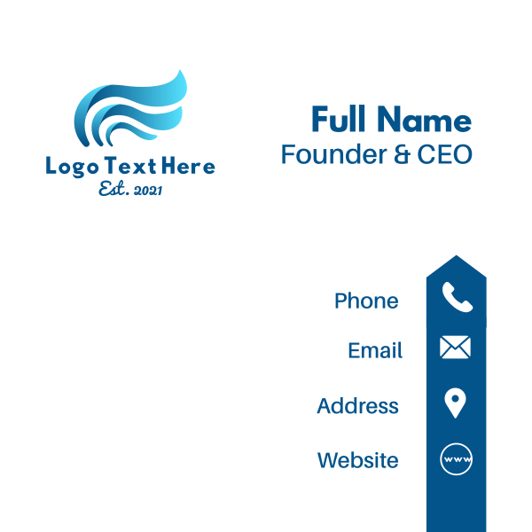 Blue Wave Wings Business Card