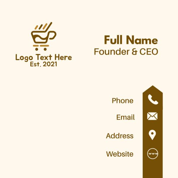 Coffee Push Cart Business Card