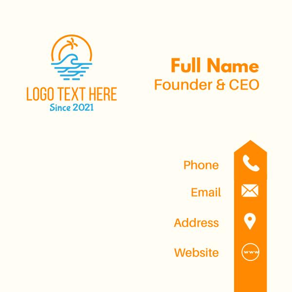 Tropical Beach Waves Business Card