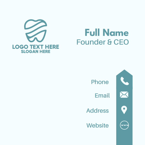 Blue Tooth Waves Business Card