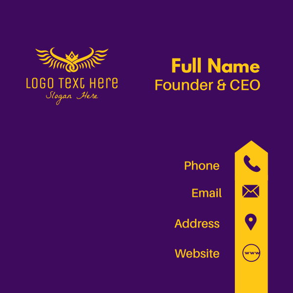 Golden Royal Wings Business Card
