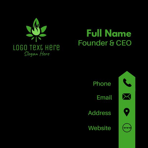 Organic Marijuana Flame Business Card