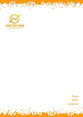 Retro Digital Pixel Letterhead