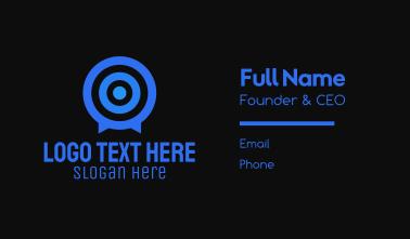 Target Messaging App  Business Card