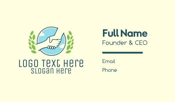 arrangement - Community Handshake Business card horizontal design
