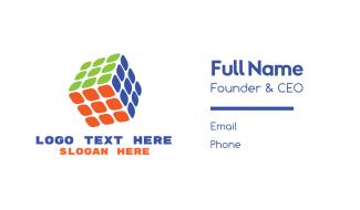 Modern Cube  Business Card