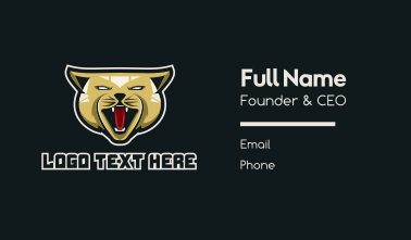 Angry Cat Gaming Business Card