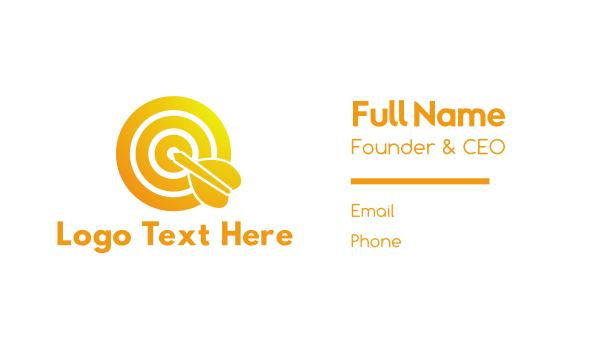 business solutions - Gradient Bullseye Business card horizontal design