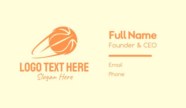 motion - Fast Basketball Shot Business card horizontal design