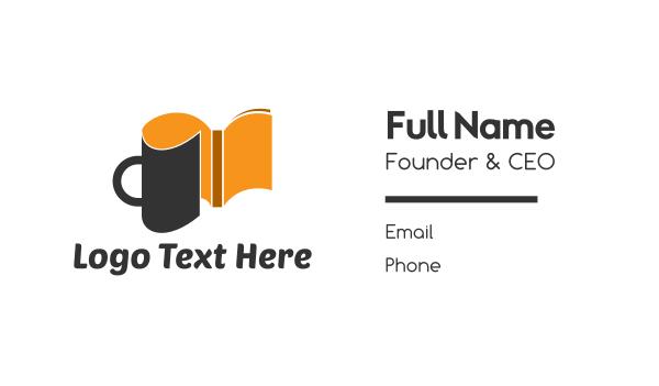 wiki - Coffee Book Business card horizontal design