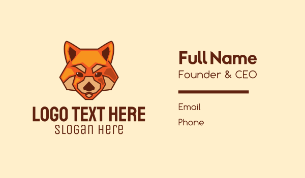animal welfare - Red Fox Dog Business card horizontal design