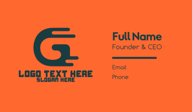 Fast Dripping Letter G Business Card