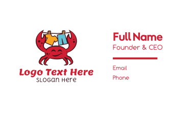 Happy Crab Washing Business Card