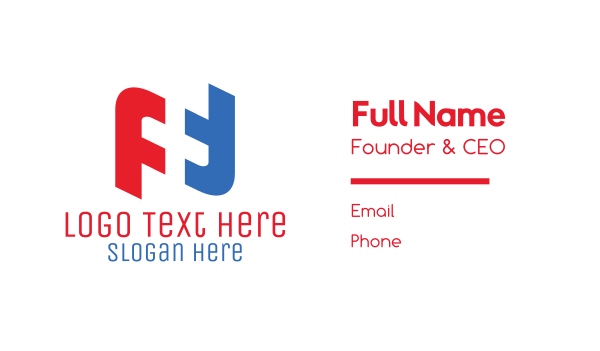 first aid - Blue & Red Medical Cross Business card horizontal design