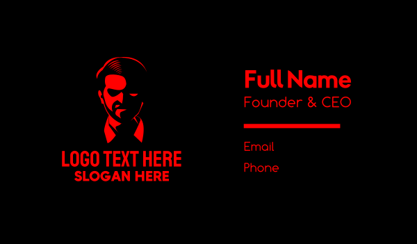 mad - Male Mafia Boss Business card horizontal design