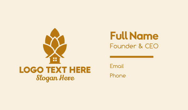 brewer - Acorn Beer House  Business card horizontal design