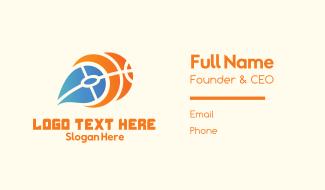 Fire Basketball Business Card