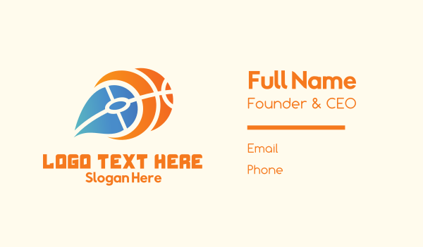 mvp - Fire Basketball Business card horizontal design