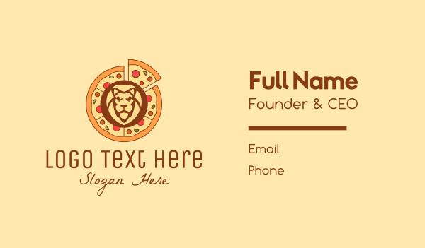margherita - Lion Pizza Restaurant   Business card horizontal design