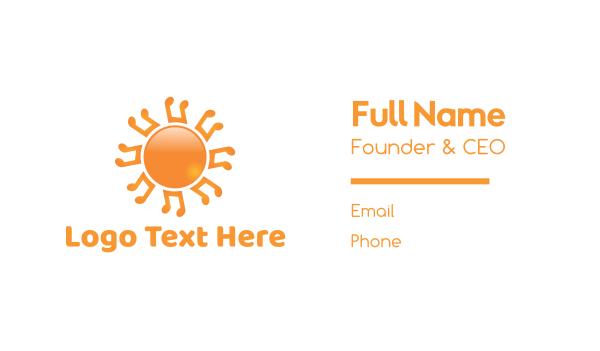 orange sun - Music Note Sun Business card horizontal design