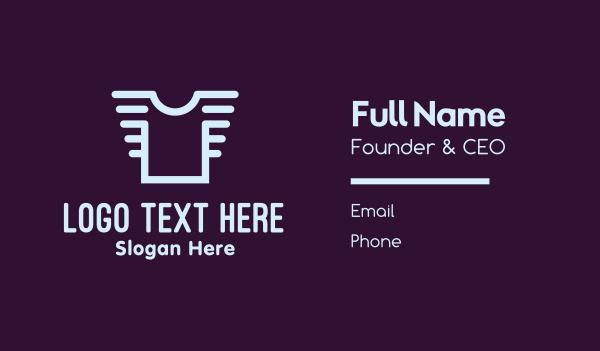 clothes - Plain Shirt Business card horizontal design