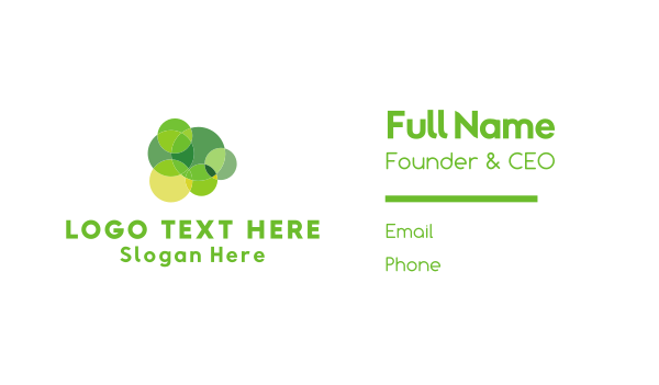 environment friendly - Green Circles Business card horizontal design