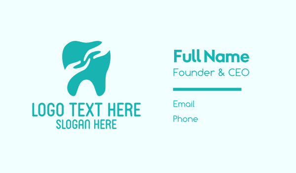 help - Mint Tooth Hand Business card horizontal design