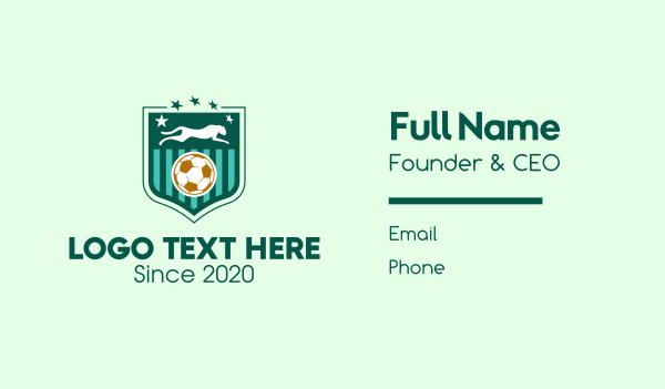 ocelot - Panther Soccer Football Business card horizontal design