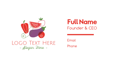 Vegetables & Fruit Business Card