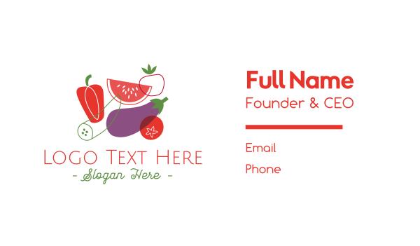 deli - Vegetables & Fruit Business card horizontal design