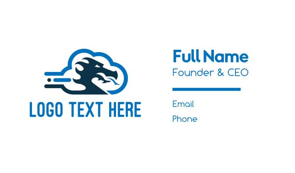 custom - Dragon Cloud Business card horizontal design