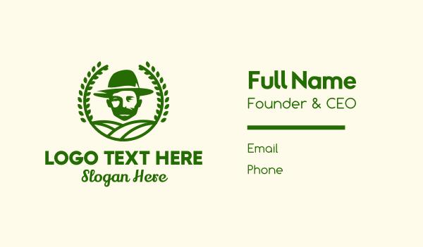 grandpa - Bearded Farmer Man Business card horizontal design