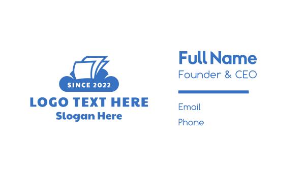 file - Cloud Documents Business card horizontal design