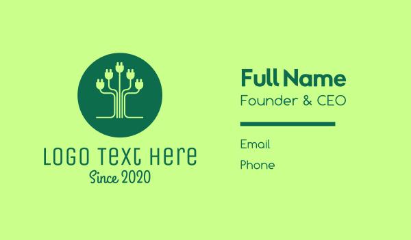 charger - Eco Plug Tree Business card horizontal design